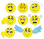 Various smileys 1 Stock Photo