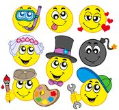 Various smileys 5 Stock Images