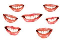 Various smilling women mouth Stock Photo