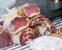 Various smoked meat products Stock Image
