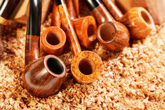 Various smoking pipes Stock Photography