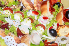 Appetizers and finger food - closeup Royalty Free Stock Photo