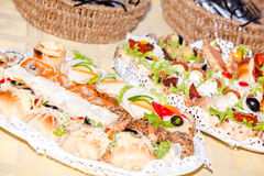 Various appetizer food, Catering food Royalty Free Stock Photos