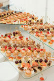 Various snacks on platter Stock Image