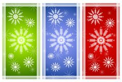 Various Snowflake Backgrounds Royalty Free Stock Photos