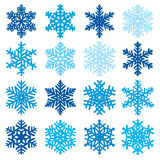 Various snowflake shapes decorative winter set vector illustration Stock Photos