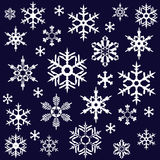 Various snowflakes Stock Images