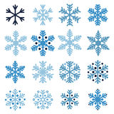 Various snowflakes Royalty Free Stock Photography