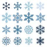 Various snowflakes Stock Photos