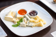 Various sorts of cheese Royalty Free Stock Photos