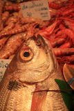 Various sorts of fish at the fish market Stock Photo