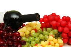 Various sorts of grapes Stock Photography