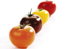 Various sorts of tomatoes Stock Image