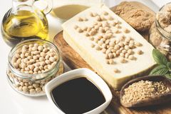 Soy products stock photography