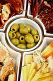 Various Spanish Snacks Stock Photography