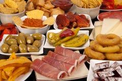Various Spanish tapas royalty free stock images