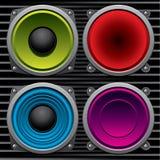 Various speakers stock illustration