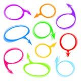 Various speech bubbles vector set Stock Photography