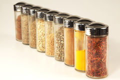 Various Spice Jars. In line Stock Images