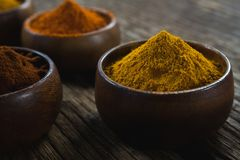 Various spices arranged in bowl Royalty Free Stock Photo