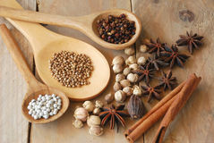Various spices for chinese food boiled Stock Photos