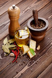 Various spices and condiments Stock Photos