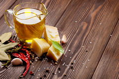 Various spices and condiments Royalty Free Stock Photos