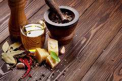 Various spices and condiments Stock Images