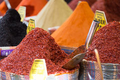 Various spices on a counter Royalty Free Stock Photos