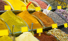 Various spices on a counter on the Grand Bazaar Royalty Free Stock Image