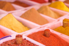 Various spices on farmer market in Georgia royalty free stock images