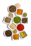 Various spices and herbs. Royalty Free Stock Photos