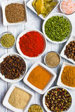 Various spices and herbs. Royalty Free Stock Image