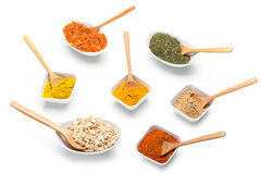 Various spices and herbs Stock Image