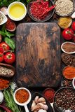 Various spices and herbs Royalty Free Stock Photo