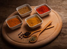 Various spices and herbs Stock Images