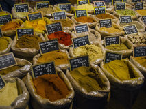 Various spices in the market Royalty Free Stock Images