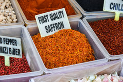 Various spices on the market Stock Photography