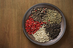 Various spices in plate Stock Image
