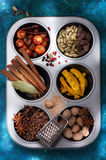 Various Spices and seasonings Stock Photo