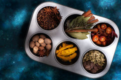 Various Spices and seasonings Stock Image