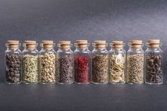 Various spices seeds royalty free stock image