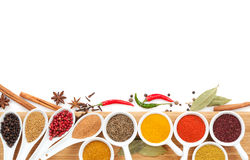 Various spices selection Stock Photos