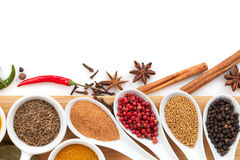 Various spices selection Stock Image