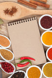 Various spices selection Royalty Free Stock Photo