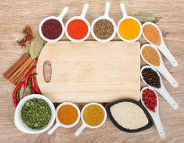 Various spices selection Stock Photos