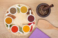 Various spices selection Stock Photography