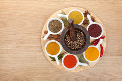 Various spices selection Royalty Free Stock Photos