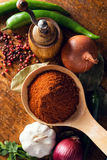 Various spices and vegetables Stock Image