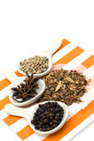 Various spices. On white Royalty Free Stock Photo